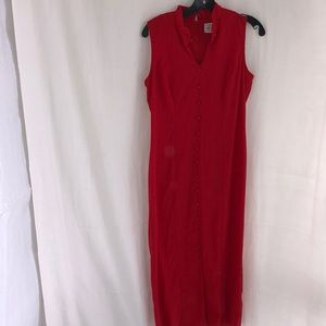 Kathie Lee Collection Red Vintage Dress